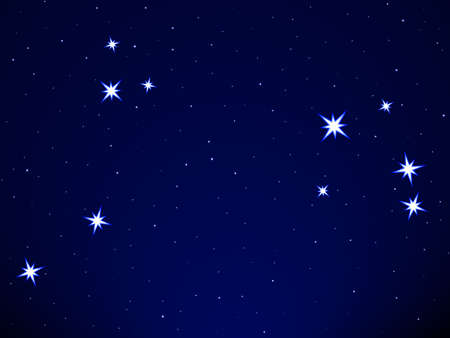 Aries constellation on the starry sky Stock Vector - 25202016