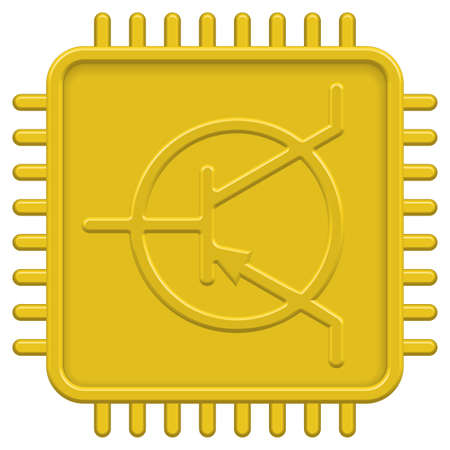 CPU icon for various design Vector