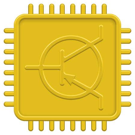 microcontroller: CPU icon for various design