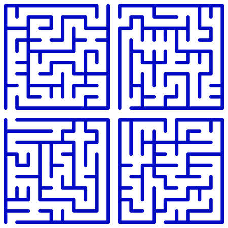 Maze set for the leisure Vector