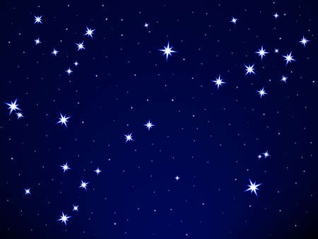 Pisces constellation on the starry sky