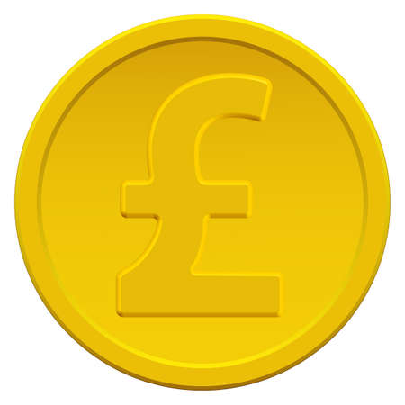 profusion: Gold coin icon with the pound sterling symbol