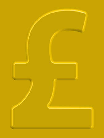 sterling: Pound sterling symbol on the gold background