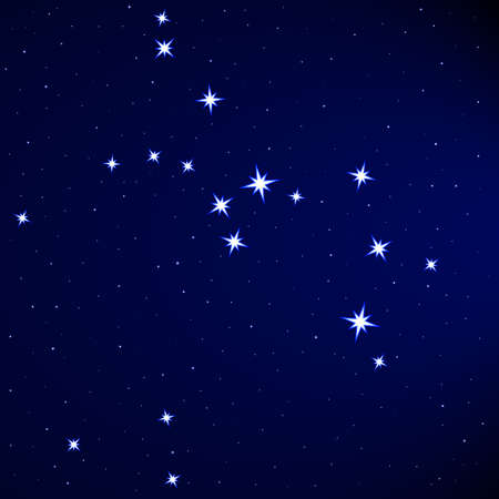 Sagittarius constellation on the starry sky Stock Vector - 25202052