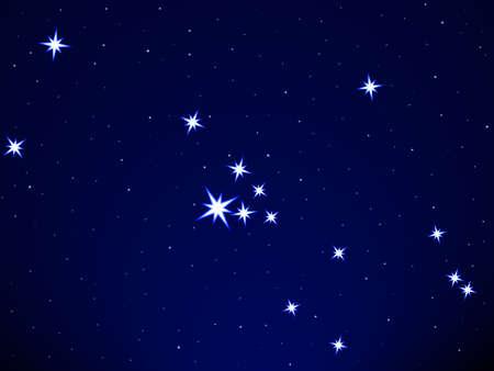 Taurus constellation on the starry sky Stock Vector - 25202056