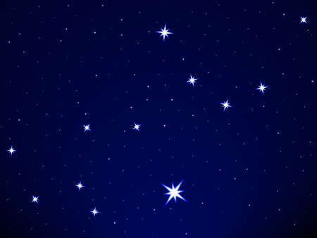 Virgo constellation on the starry sky Stock Vector - 25202054