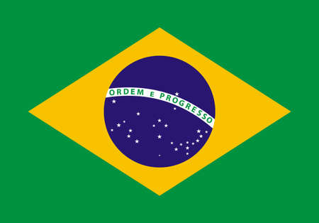 Illustration of the Brazil flag Çizim