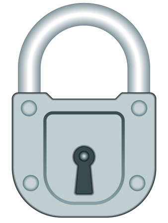 locked up: Illustration of the lock icon