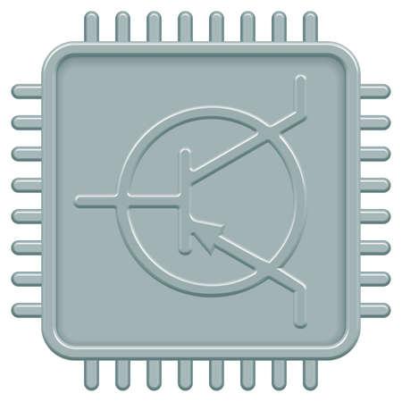 microcontroller: Microchip icon for various design
