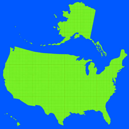 fully editable: Stencil silhouette map of the USA on the seamless scaled paper background. All objects are independent and fully editable. Source of map:   http:www.lib.utexas.edumapsunited_statesn.america.jpg Illustration