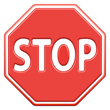 banning the symbol: Stop sign icon for various design