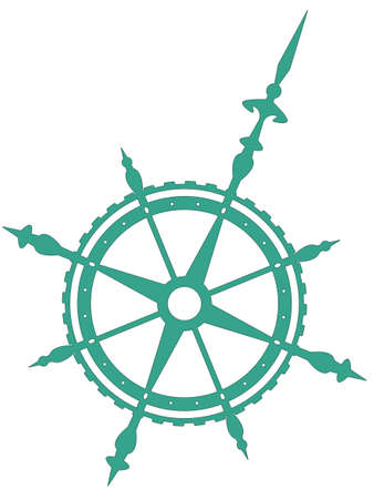 dial compass: Wind rose symbol for various design
