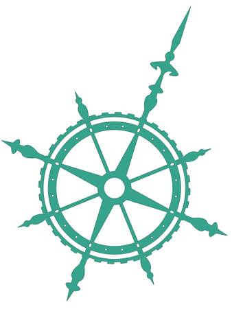 Wind rose symbol for various design Vector