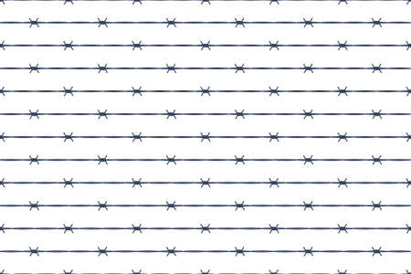 Seamless pattern of the barbed wire