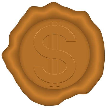 Dollar on the sealing wax
