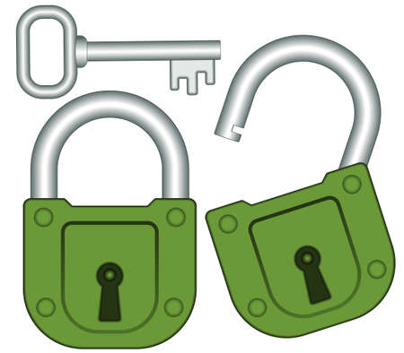 banning: Set of the lock and key icons