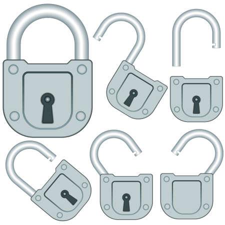 shut up: Set of the lock icons Illustration