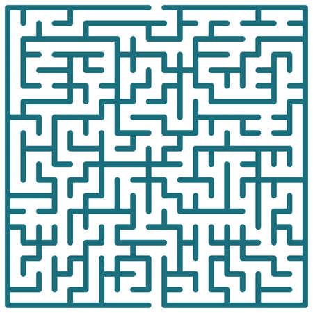 escape route: Illustration of the maze for leisure  Illustration