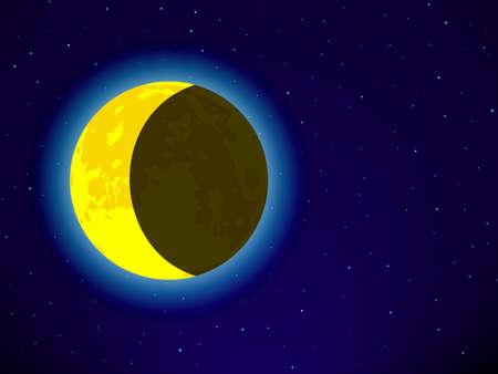 astral body: Luna en el cielo nocturno
