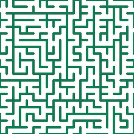 Seamless background of the maze pattern Vector