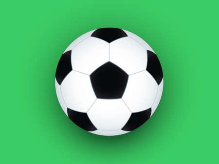 uefa: Fu�ball Ball auf dem gr�n hintergrund Illustration
