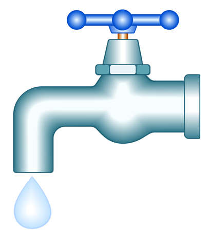 Faucet icon for various design Vector