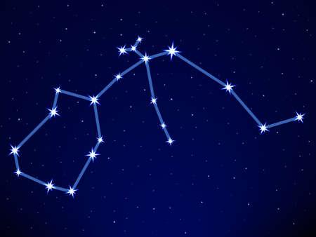 skat: Aquarius constellation on the starry sky