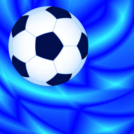 bal: Soccer bal on the abstract background Illustration