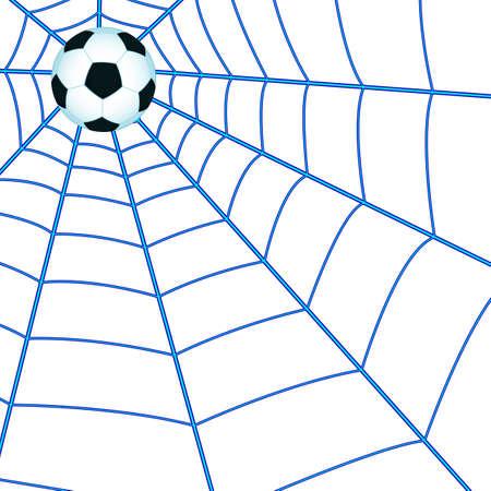 uefa: Illustration der Fu�ball auf dem Spinnennetz Illustration