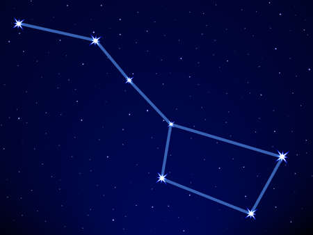 Big Dipper on the starry sky  Vector