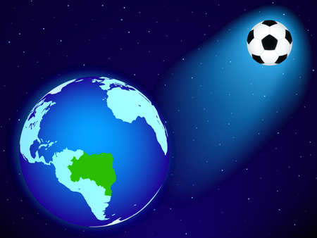 Earth and the soccer ball  Vector