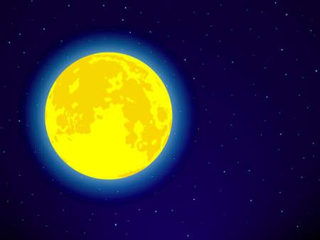 fool moon: Full moon on the night sky