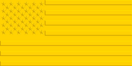 star spangled: Stylized gold flag of the United States Illustration