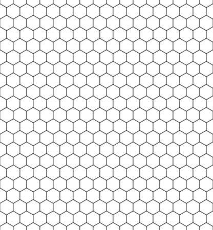 六角形の網のシームレスなパターン  イラスト・ベクター素材