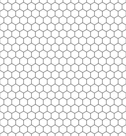 Naadloos patroon van de zeshoekige netto