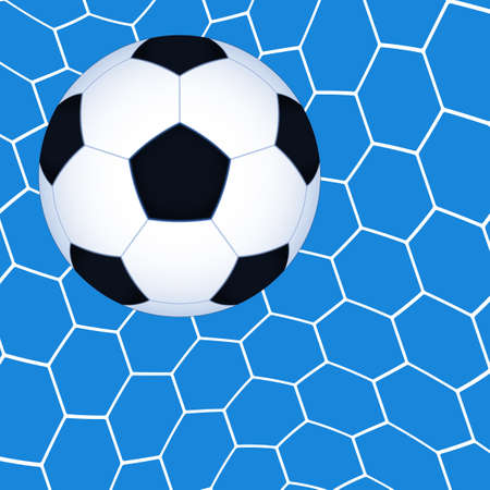 uefa: Illustration der Fu�ball-Ball im Netz
