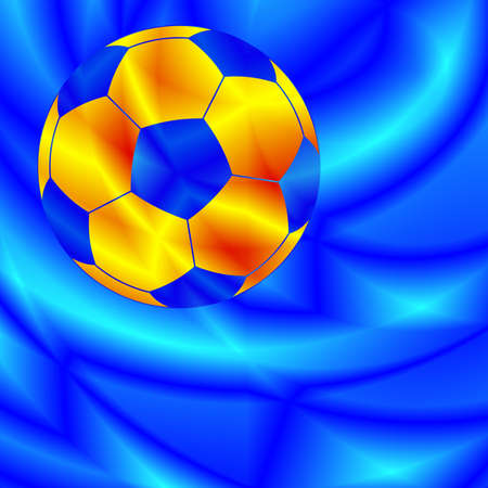 bal: Color soccer bal on the abstract background