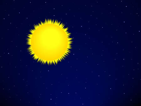 Sun on the space background Vector
