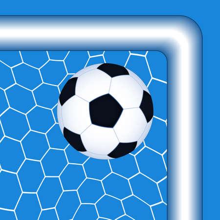 soccer goal: Illustration of the soccer ball in the top corner goal