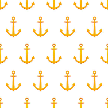 mooring anchor: Seamless pattern of the anchors icon background