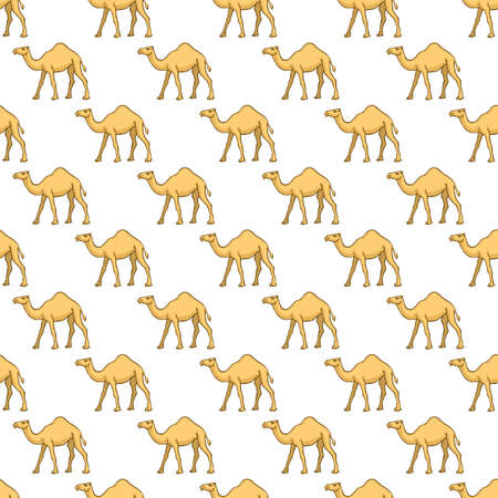 hunch: Seamless pattern of the cartoon camels