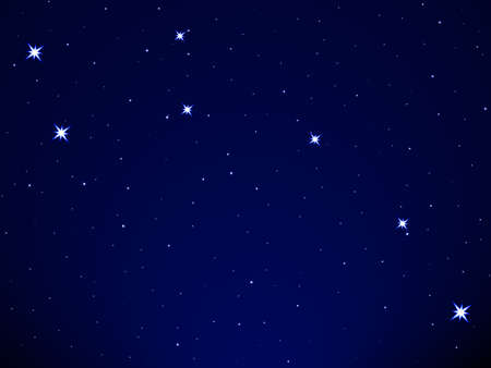 Little Dipper on the starry sky Vector