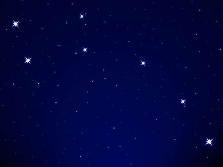 noche estrellada: Osa Menor en el cielo estrellado Vectores