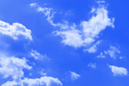 sky clouds: Background of the blue sky and clouds Illustration