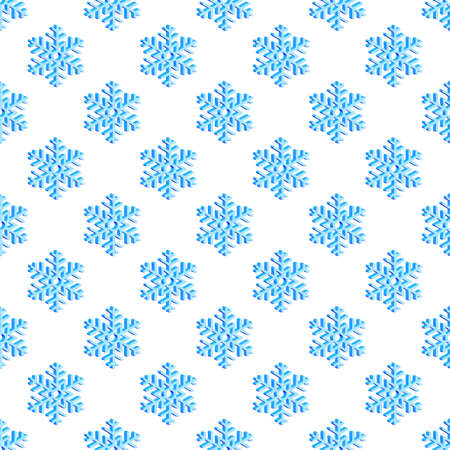 Seamless pattern of the snowflakes