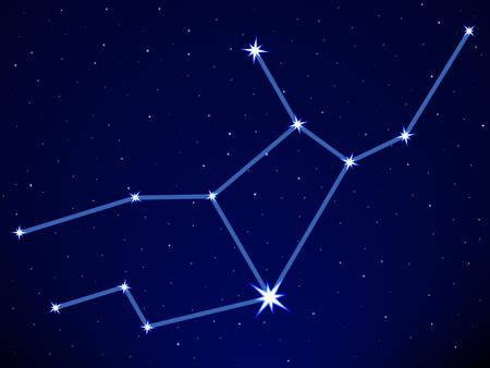 Virgo constellation on the starry sky