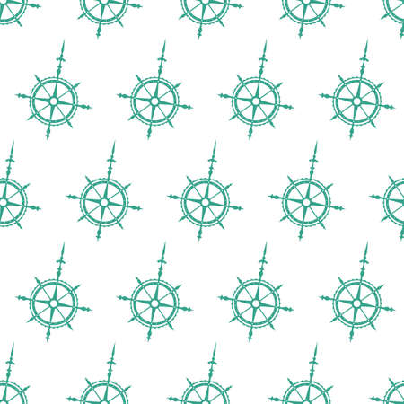 the wind rose: Seamless pattern of the wind rose symbols