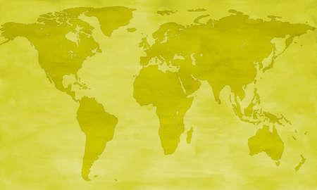 Vintage carte de la silhouette du monde.