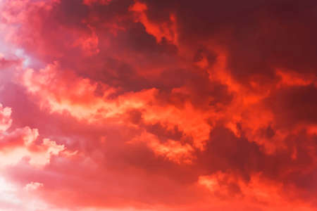 vermilion: Background of the blood red evening sky and clouds