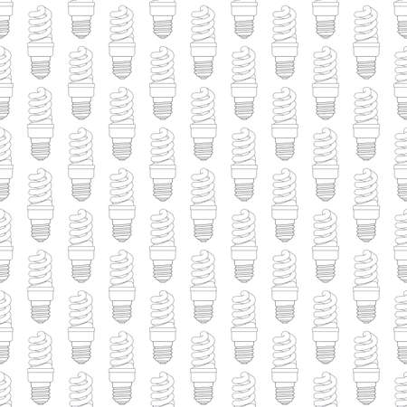 expedient: Seamless pattern of the contour energy saving luminescent lamps Illustration